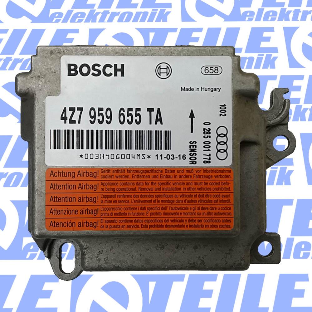 Airbagsteuergerät  4Z7959655 0285001408 Audi A6 C5 TESTED