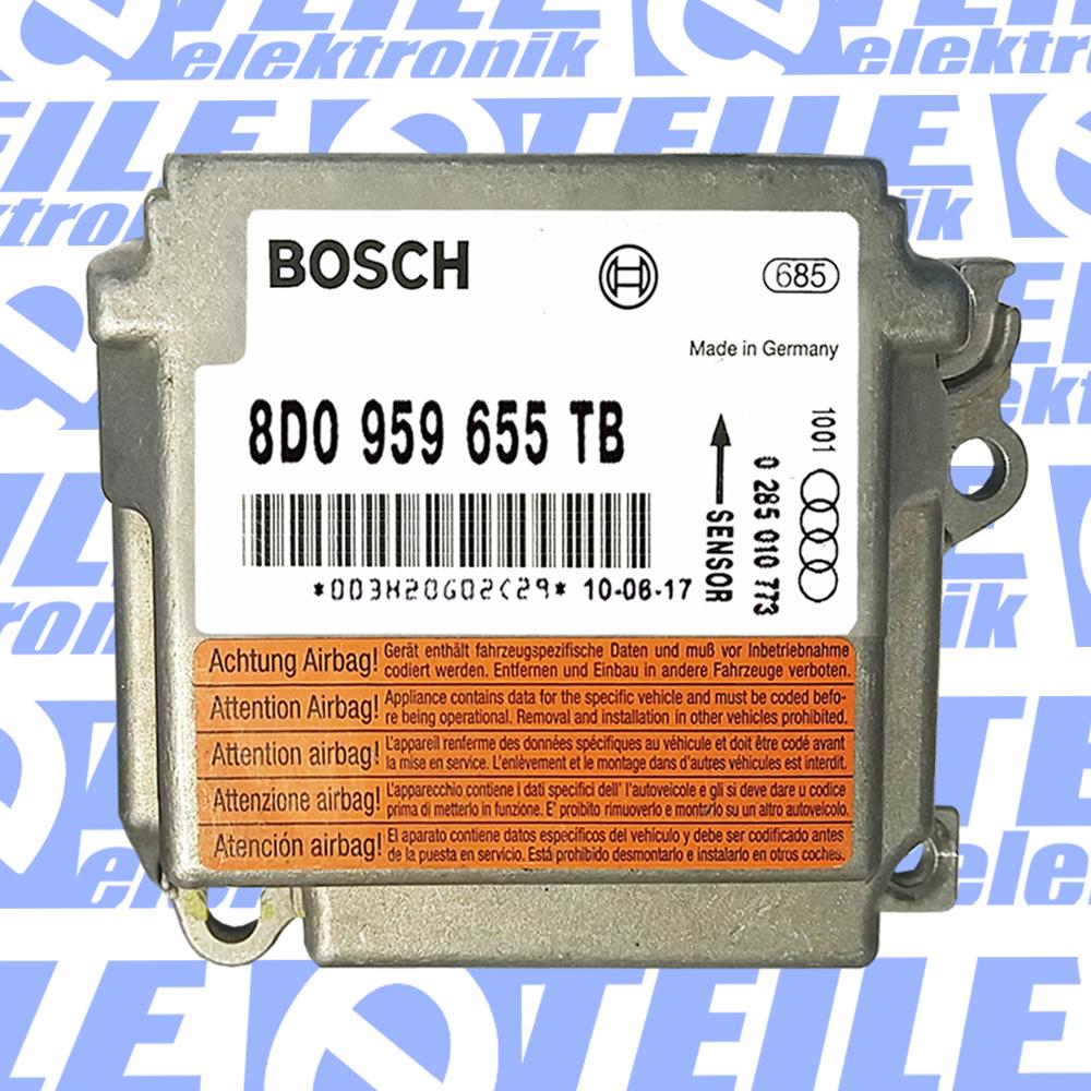 TESTED 100/% ORIGINAL AUDI A4 B5 8D Airbag Steuergerät 8D0959655J 0285001276